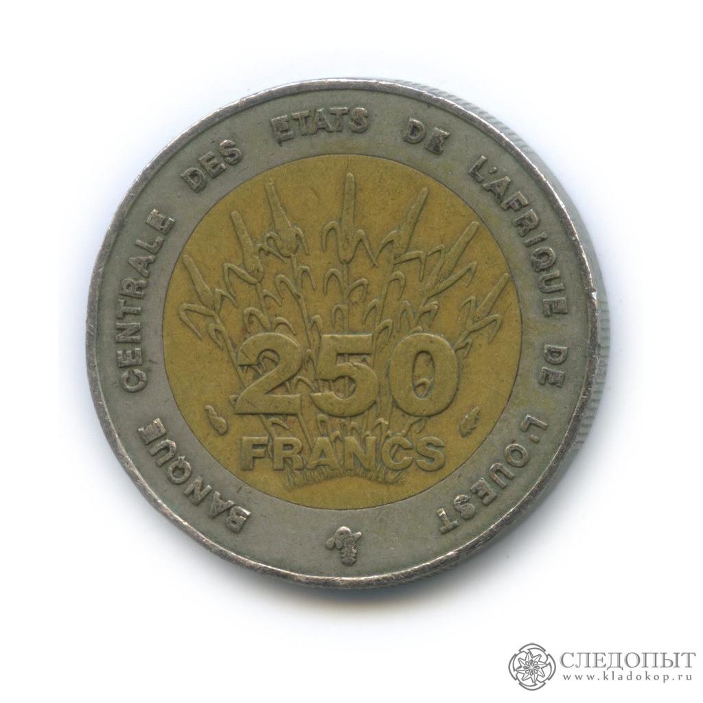 250 франков 1992 (Западная Африка (BCEAO))