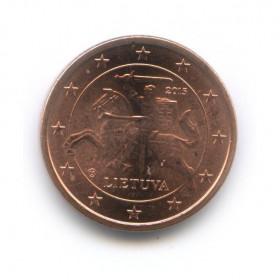 1 цент 2015 года (Регулярный выпуск)— Литва UNC