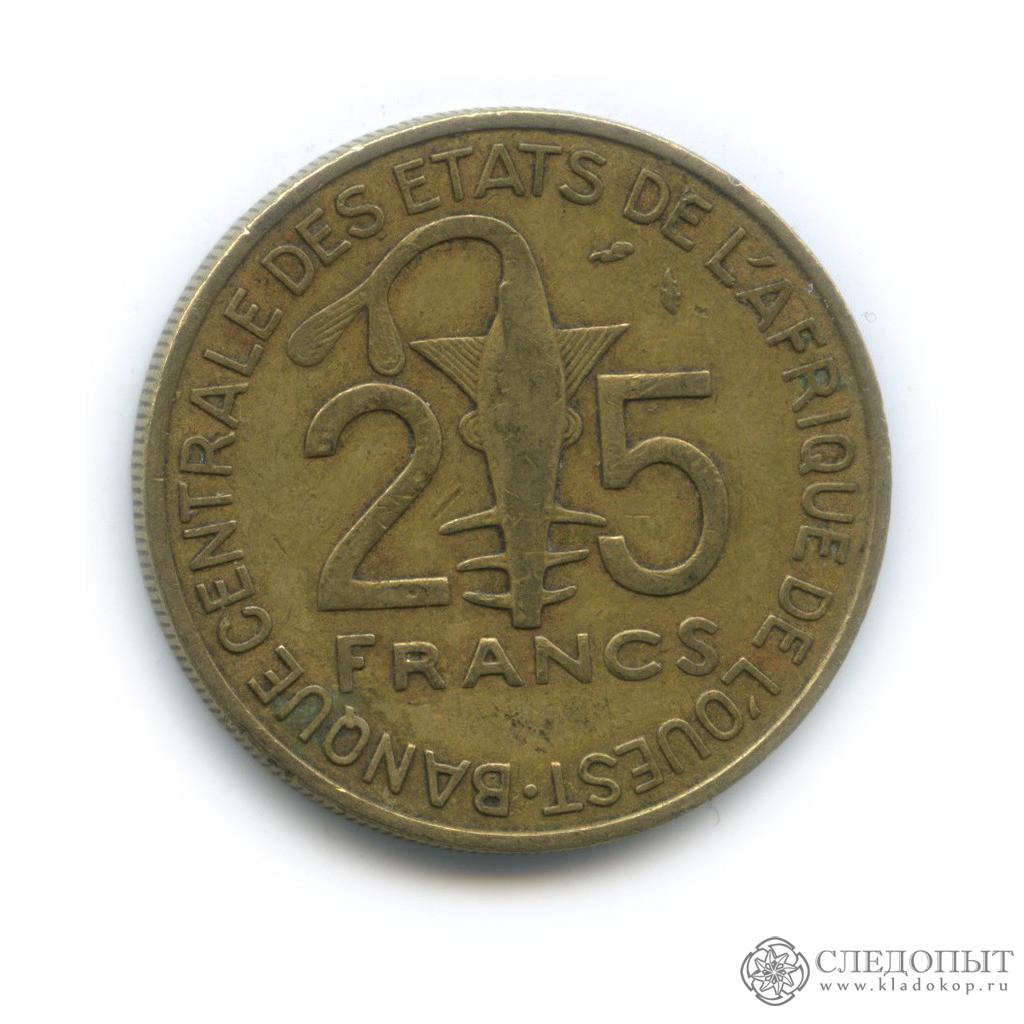 25 франков 1989 (Западная Африка (BCEAO))