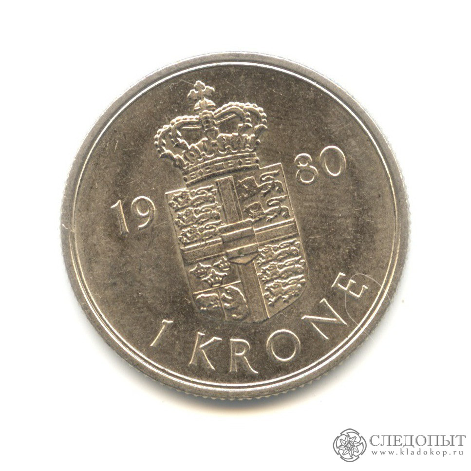 1 крона 1980 (Дания)