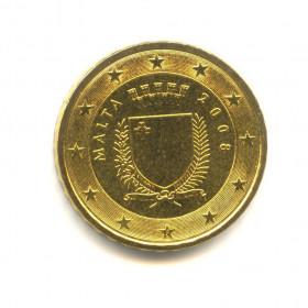 10 центов 2008 года (Регулярный выпуск) — Мальта