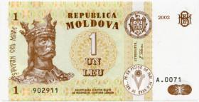 1 лей2002 — Молдова