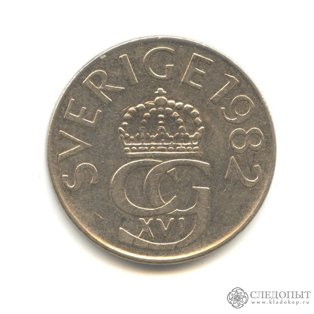 Монета швеции 2 кроны 2016 года государственные облигации 1982 года