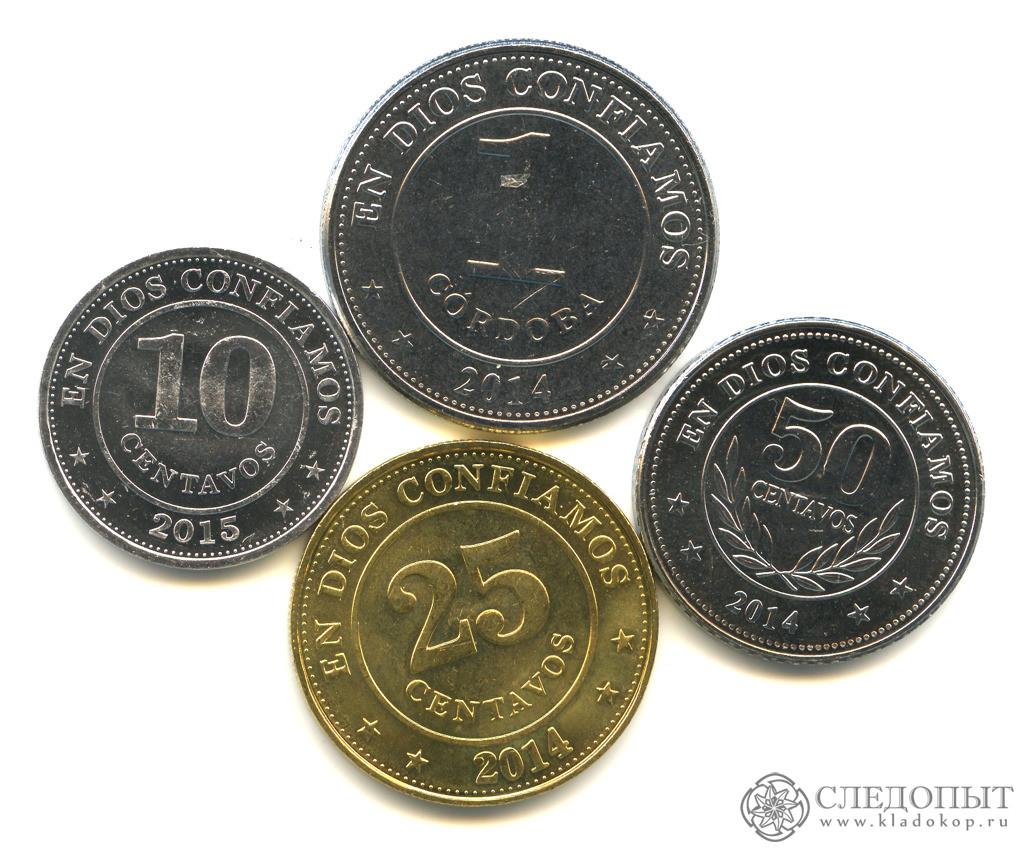 Никарагуа— набор из4 монет (разные годы)