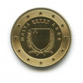 50 центов 2008 года (Регулярный выпуск)— Мальта UNC