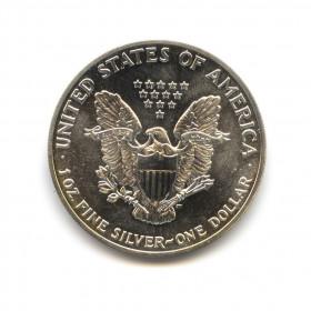 1 доллар 1989 года - американский серебряный орёл s. сша, со.