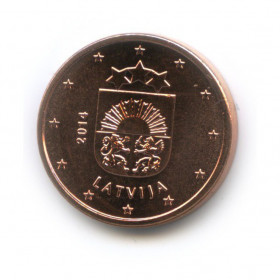 1 цент 2014 года (Регулярный выпуск)— Латвия UNC