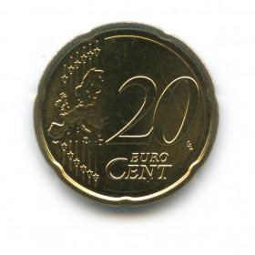20 центов 2014 года (Регулярный выпуск)— Латвия UNC