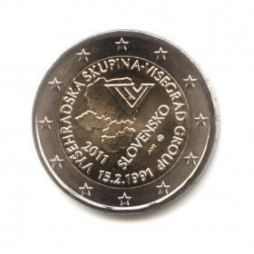2 евро 2011 — 20 лет формирования Вишеградской группы — Словакия