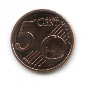 5 центов 2014 года (Регулярный выпуск)— Латвия UNC