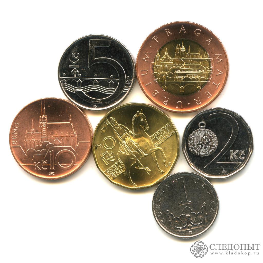 Чехия— набор и6 монет (разные годы) UNC