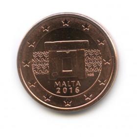 5 центов 2016 года (Регулярный выпуск)— Мальта UNC