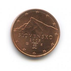1 цент 2009 года (Регулярный выпуск)— Словакия UNC