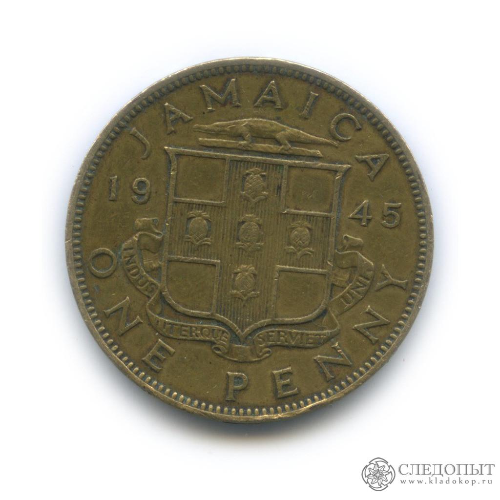1 пенни 1945 (Ямайка)
