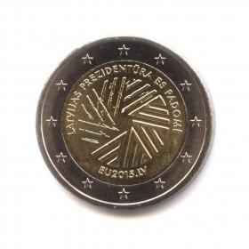 2 евро 2015 - Председательство Латвии вСовете ЕС - Латвия
