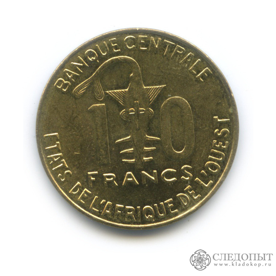 10 франков 2004 (Западная Африка (BCEAO))