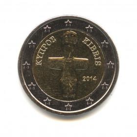 2 евро 2014 года (Регулярный выпуск) — Кипр