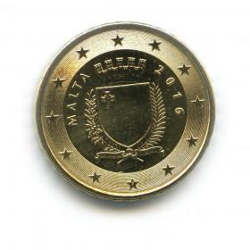 10 центов 2016 года (Регулярный выпуск)— Мальта UNC