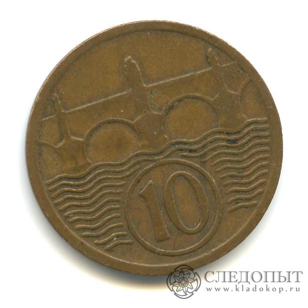 10 геллеров 1930 года (Регулярный выпуск)— Чехословакия