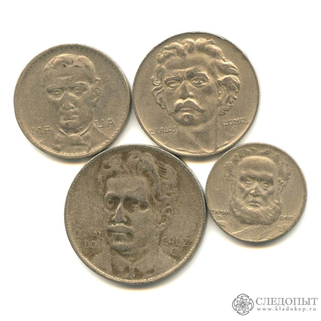 Бразилия— набор из4 монет (разные годы)