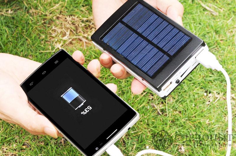 внешний аккумулятор с солнечной батареей 25000 мач