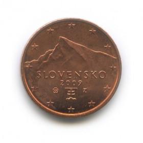 2 цента 2009 года (Регулярный выпуск)— Словакия UNC