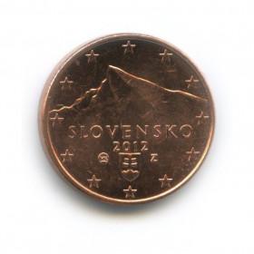 1 цент 2012 года (Регулярный выпуск)— Словакия UNC