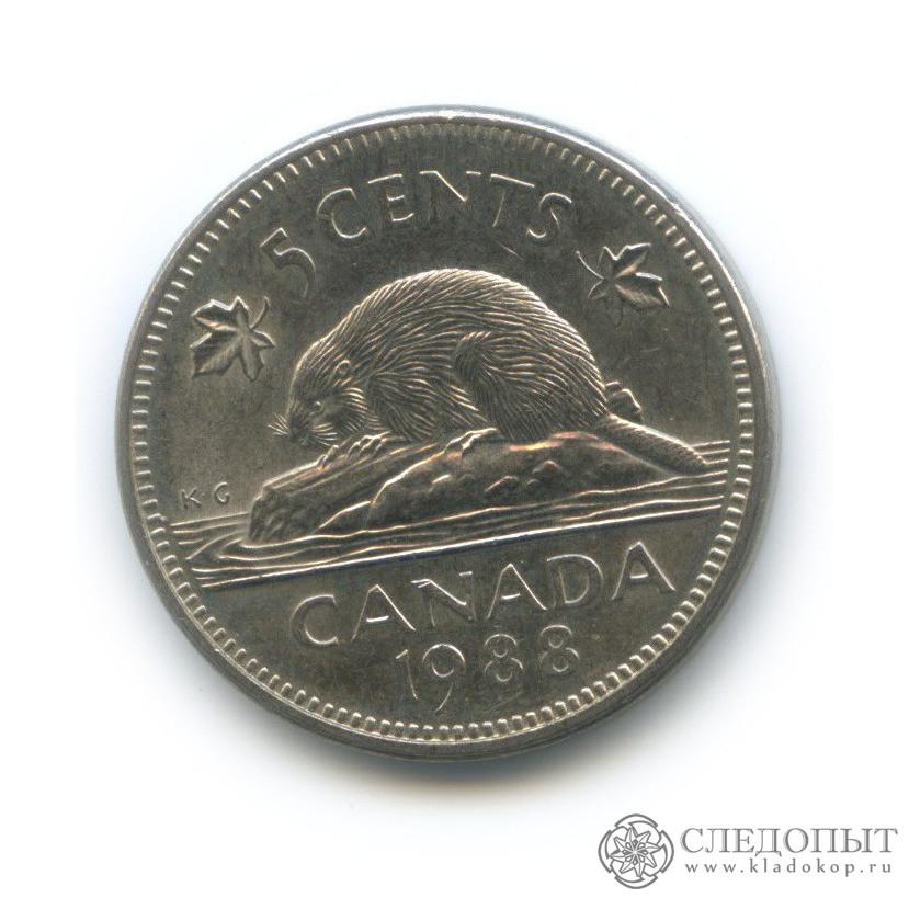 5 центов 1988 года цена в какой стране нет мелкой разменной монеты