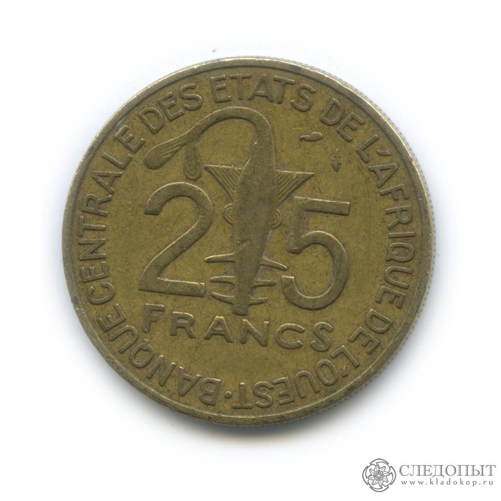 25 франков 1990 (Западная Африка (BCEAO))
