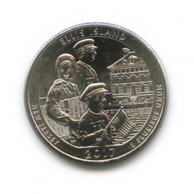 25 центов (квотер) 2017— Остров Эллис D (UNC)— США