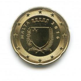 20 центов 2016 года (Регулярный выпуск)— Мальта UNC