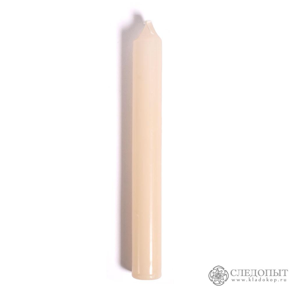 Свеча столовая (белая)